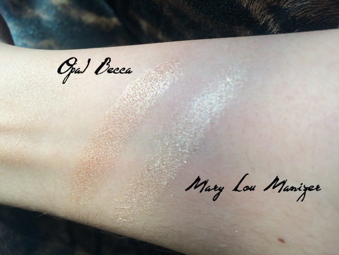 swatch becca opal mary lou manizer the balm.JPG