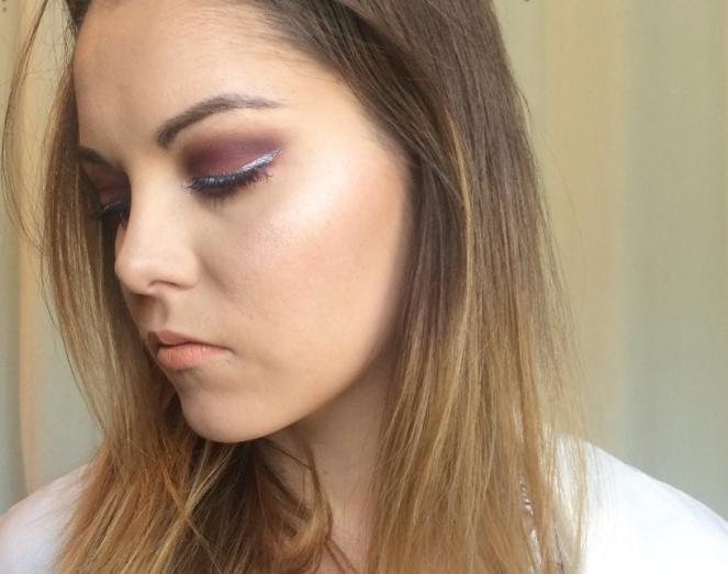 makeup monday shadow challenge sliver argenté liner.JPG