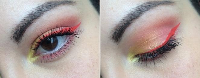 makeup summer monday shadow challenge orange