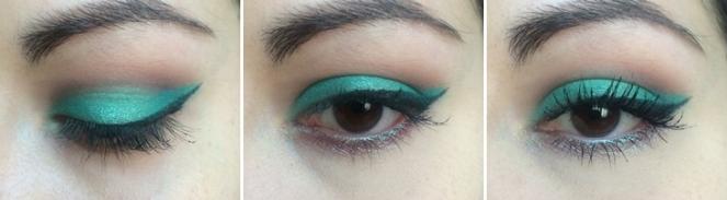 makeup vert emeraude tuto