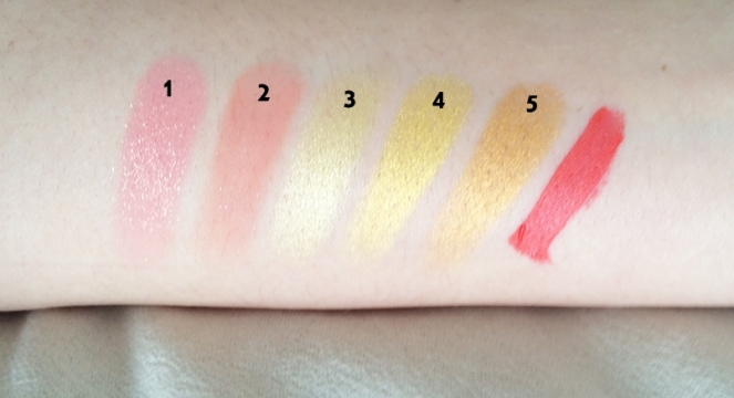 swatch makeup summer orange jaune.JPG