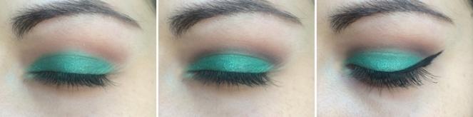 tuto makeup vert emeraude