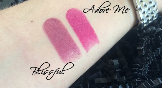 bh cometics color lock long lasting matte lipstick swatch adore me blissfull.JPG