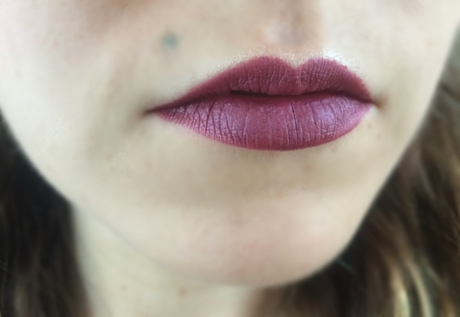 color lock long lasting matte lipstick swatch blissfull bh cosmetics.JPG