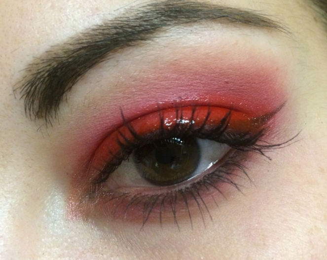 makeup red glossy
