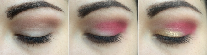 tuto makeup red and gold 1