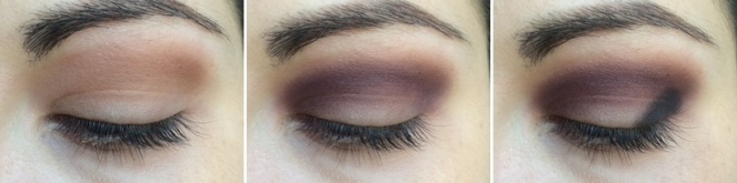 tuto maquillage smoky kaki et violet sweet peach