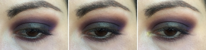 tuto smoky maquillage kaki violet sweet peach