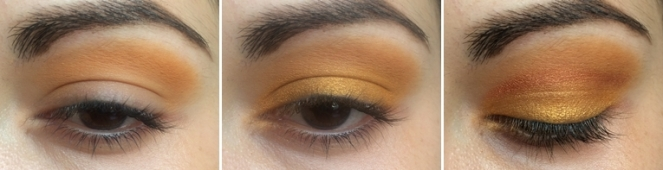 TUTO makeup tangerine monday shadow challenge 1