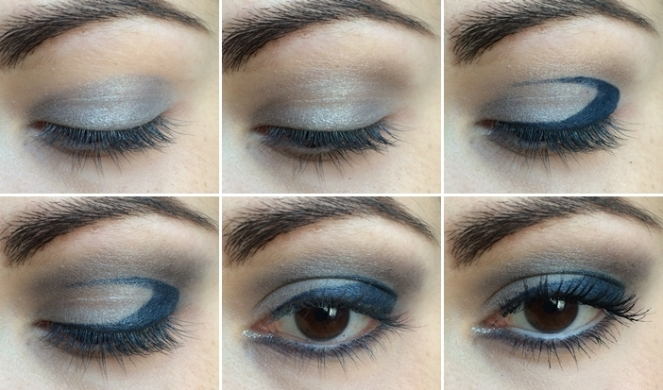 tuto makeup gris bleu monday shadow challenge