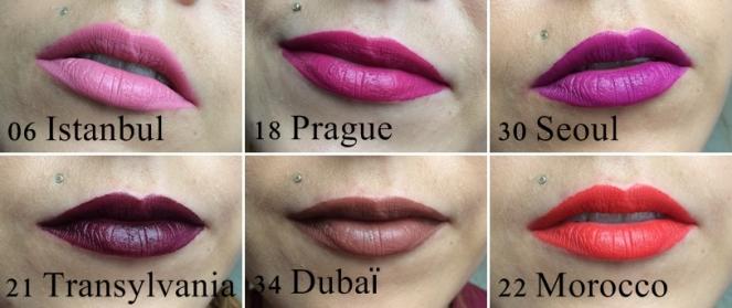 swatches soft matte lip cream nyx morocco transylvania seoul dubai istambul prague.jpg